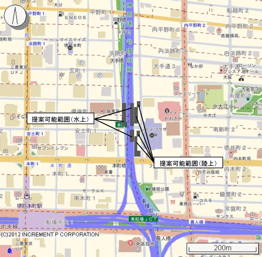 東横堀川沿いの水辺拠点「本町橋BASE」、魅力向上に向け大阪市などが ...