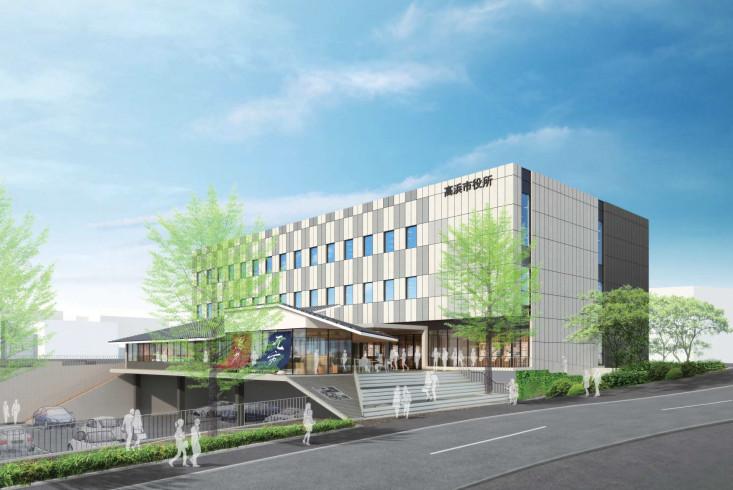 高浜市が定期借家で本庁舎整備を計画、プロポ最優秀提案を ...