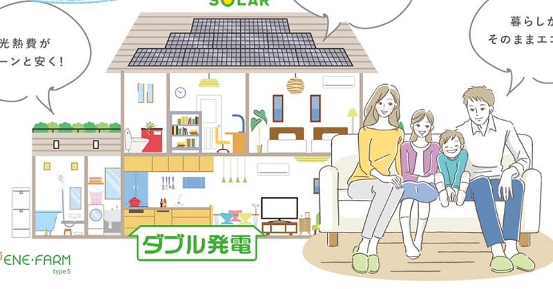 「太陽光+エネファーム」を無償設置、燃料電池の余剰は大ガスが買電 - ニュース - メガソーラービジネス : 日経BP
